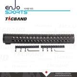 Trilho de Tacband Keymod Handguard flutuador livre de 16.5 polegadas com preto superior do trilho de Picatinny