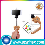 Palillo sin hilos de Selfie con el botón plegable del obturador de Bluetooth del sostenedor