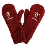 La toca/la bufanda/la manopla del adulto 3-Piece Canadá del color rojo fijaron (CPHC-7012X)
