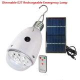 多機能40lm 0.72W屋外LED太陽ランプの組み込みの充電電池