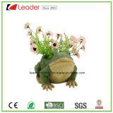 Plantadores de la estatuilla de la rana del jardín de Polyresin del bestseller para el hogar y el césped decorativos