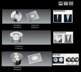 luz de la cubierta del paisaje de 3W LED, luz subterráneo, luz de Inground