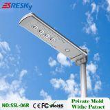 Indicatore luminoso di via solare Integrated chiaro esterno astuto 6W-100W del LED con telecomando