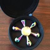 Filatore variopinto di irrequietezza della barretta del giocattolo del filatore del Rainbow delle sei dei branelli goccioline di acqua