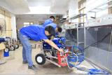 Pulverizador mal ventilado elétrico portátil da pintura da bomba de pistão
