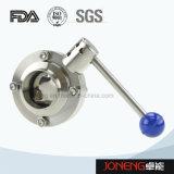 Válvula de borboleta manual da união de Rjt do produto comestível de aço inoxidável (JN-BV1006)