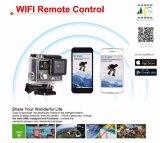 """超4k処置のカメラ1080P HD WiFiのスポーツのビデオ・カメラ170d広角の2 """"二重スクリーン30m防水WiFiカム"""
