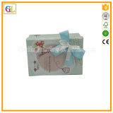 Rectángulo de regalo grabado aduana de la cartulina de la insignia