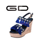 Le gland rouge de cuir de chaussures de gland de Gdshoe coince des chaussures