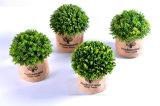 Verschiedene künstliche Pflanzen (Kirschbucht/-thymian/-Rosemary usw.) im Flachs-Beutel für Indoor&Outdoor Dekoration