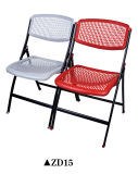 Bunter Plastikim freienfalz-Stuhl mit Stahlrahmen