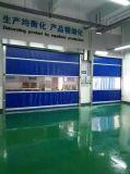 A tela de alumínio do PVC do quadro da segurança rápida rola acima a porta