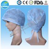 Il dottore non tessuto Cap di SBPP/SMS con elastico/legami per uso dell'ospedale