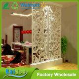 Pantalla plegable tallada hueco blanca hermosa de la partición del dormitorio de la pantalla