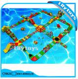 Aufblasbare Wasser-Spielwaren/riesiger aufblasbarer Wasser-Spielplatz für Verkauf