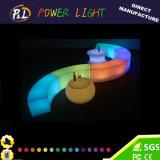 Colore che cambia il tavolino da salotto di plastica della mobilia LED del LED