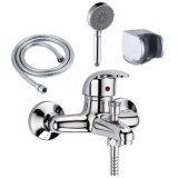 Faucet/misturador do chuveiro do lavabos do banheiro com cabeça de chuveiro, o suporte do suporte e a mangueira Handheld, cromo Polished