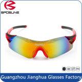 Gafas de sol deportivas UV400 del deporte del ce En166 del Anti-Rasguño de la manera se divierte las gafas para la bicicleta