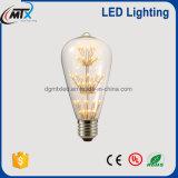 bulbo St64 2W 4W 6W 120V 230V/St64 de Edison do bulbo do filamento do diodo emissor de luz de 2700k E26 E27 Dimmable