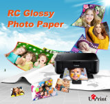 Papier lustré lustré de photo du papier RC de photo de prix de gros