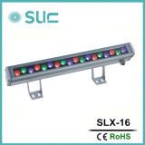 Luz de la arandela de la pared del RGB LED, color que cambia la luz del LED, arandela de la pared, luz al aire libre del LED