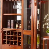 実用的な様式の固体マホガニーの木のワインのキャビネット(GSP9-053)