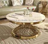 현대 디자인 고정되는 금 커피용 탁자