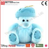 Urso remendado enchido personalizado com um chapéu
