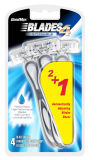 4 Blatt-Edelstahl-wegwerfbares Rasierrasiermesser (Baumuster Nr.: SL-3103FL)
