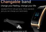 Le traqueur de forme physique, Bluetooth 4.0 montres intelligentes résistantes, sommeil et moniteur du rythme cardiaque de l'eau est compatible avec des smartphones androïdes