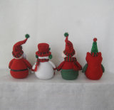 Decoração equipada com pernas Gift-4asst do Natal do Pompom