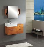 単一の流しの木の浴室の虚栄心