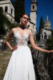Liana-Oberseite neigt Aline mehrschichtige Hochzeits-Kleider