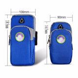 Bolsillos dobles Medición UV Armbag Bolsa de muñeca para correr