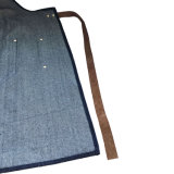 Top Qaulity Denim Apron Custom Logo para Bar Atacado