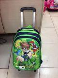 Sac détachable de sac à dos de livre d'école de chariot à gosses de beau dessin animé de polyester