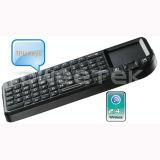 2.4G Ultra Mini Wireless Keyboard avec le touchpad et l'éclairage LED - ZW-51006-1 (MWK01+)