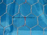Плетение провода горячего DIP гальванизированное шестиугольное