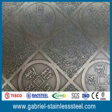 catalogue des prix Checkered de plaque d'acier inoxydable d'épaisseur de 430 2.5mm