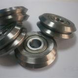 二重V車輪Wの溝ガイドの車輪軸受