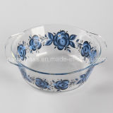 9 '' Pyrex Glass Baking Bowls con Decal Design (GB13G13265-TH)