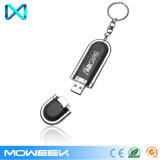Vente en gros de disques flash USB en cuir de marque avec porte-clés