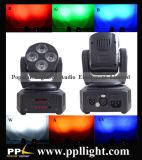 소형 크기 4PCS 10W 4in1/18W 6in1 LED 이동하는 맨 위 세척 빛