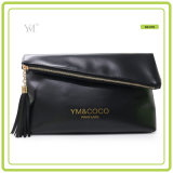 Best Selling Fashion Custom Logo Foldable Black Cluch Bag