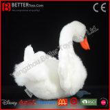 ASTMのリアルなプラシ天の白い白鳥の現実的な詰められた鳥の柔らかいおもちゃ