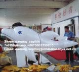 Opblaasbare Witte Dolfijn met LEIDENE Lichten voor de Decoratie van de Partij