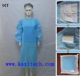 製造者Kxt-Sg04に服を着せる使い捨て可能な非編まれた外科医の隔離の医学のガウン