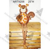 """"""" decorazione di seduta con le gambe lunghe di festa della Fox-Raccolta della iuta di H 25"""