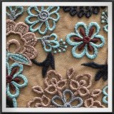 良質の多色刷りの網の刺繍のレースの花の刺繍のレース