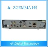 Bcm73625 고정되는 최고 상자를 가진 결합 DVB S2 DVB T2 인공 위성 수신 장치 Zgemma H5는 코어 지원 Hevc H. 265 IPTV 이중으로 한다